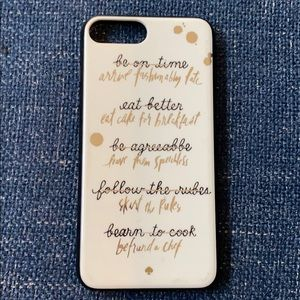 Kate Spade iPhone 7Plus plastic cover